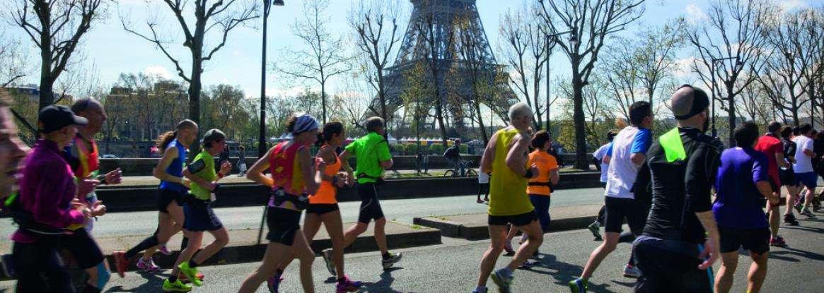 The Paris Marathon; one of the biggest running events in Europe